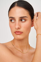 Oroton Ruby Necklace in Gold and Brass Base Metal with Precious Metal Plating for female