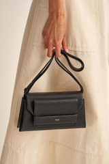 Oroton Wilde Small Day Bag in Black and Smooth Leather for female
