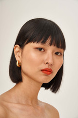 Oroton Reis Hoops in Worn Gold and Brass Base Metal with Precious Metal Plating for female