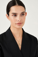 Oroton Luna Letter Necklace in Gold and Brass Base Metal With Precious Metal Plating for female