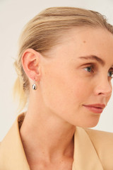 Oroton Elke Earrings in Silver and Brass Base Metal With Precious Metal Plating for female