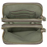 Oroton Lilly Phone Crossbody in Shale Grey and Pebble Leather for female