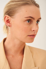 Oroton Phoebe Long Drop Earring in Gold and Brass Base Metal With Precious Metal Plating for female