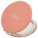 Oroton Dylan Credit Card Sleeve & Mirror in Pink Clay and Pebble Leather for female