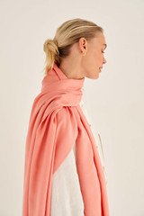 Oroton Dylan Wrap Scarf in Pink Clay and 53% Tencel 42% Modal 5% Silk for female