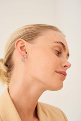 Oroton Elora Hoops in Silver and Brass Base Metal With Precious Metal Plating for female