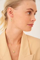 Oroton Elke Necklace in Gold and Brass Base Metal With Precious Metal Plating for female