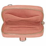 Oroton Dylan Phone Crossbody in Pink Clay and Pebble Leather for female