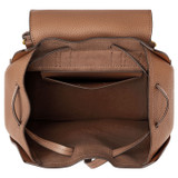 Oroton Dylan Medium Backpack in Tan and Pebble Leather for female