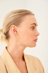 Oroton Elora Hoops in Gold and Brass Base Metal With Precious Metal Plating for female
