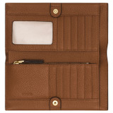 Oroton Lilly Soft Fold Wallet in Cognac and Pebble Leather for female