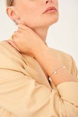 Oroton Farah Bracelet in Silver and Brass Base Metal With Precious Metal Plating for female