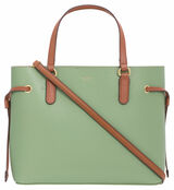 Oroton Harriet Mini Tote in Leaf and Printed Paper Woven Straw/ Faux Leather Trims for female