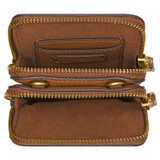 Oroton Lilly Phone Crossbody in Cognac and Pebble Leather for female
