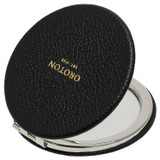 Oroton Dylan Credit Card Sleeve & Mirror in Black and Pebble Leather for female