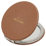 Oroton Dylan Credit Card Sleeve & Mirror in Tan and Pebble Leather for female