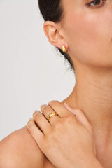Oroton Laura Ring in Worn Gold and Brass Base Metal for female