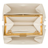 Oroton Hazel Mini Frame Shoulder Bag in Cream and Smooth Leather for female