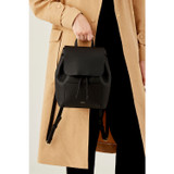 Oroton Duo Mini Backpack in Black and Pebble Leather for female