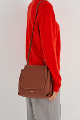Oroton Margot Medium Satchel in Whiskey and Pebble Leather for female