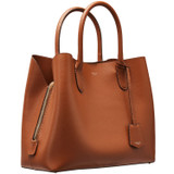Oroton Muse Three Pocket Day Bag in Cognac and Two Tone Saffiano Leather / for female