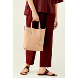 Oroton Duo Small Tote in Biscuit/Charcoal and Pebble Leather for female