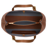 Oroton Margot Medium Day Bag in Whiskey and Pebble Leather for female