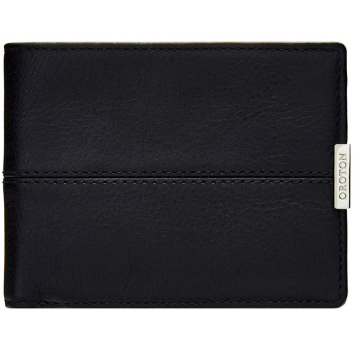 Oroton Austere 8 Credit Card Wallet in Black and Black Leather for male