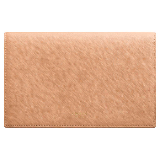 Oroton Maud Large Clutch Wallet in Caramel and Saffiano for female