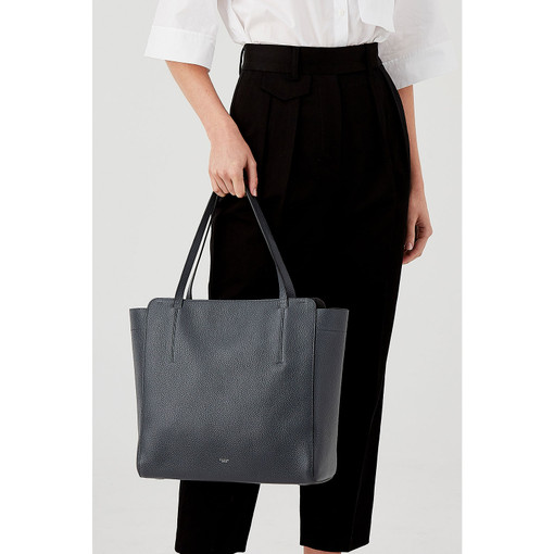 Oroton Avalon Tote in Charcoal and Pebble Leather for female