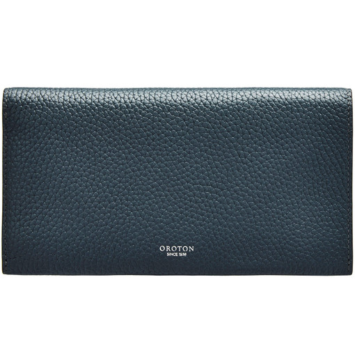 Oroton Avalon Soft Fold Wallet in Charcoal and Pebble Leather for female
