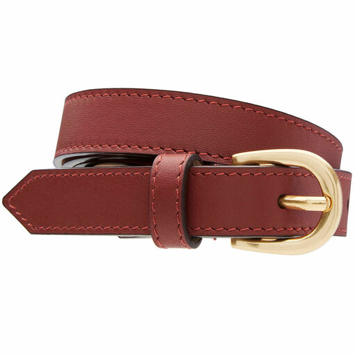 Oroton Solo Belt in Rust and Smooth Leather for female