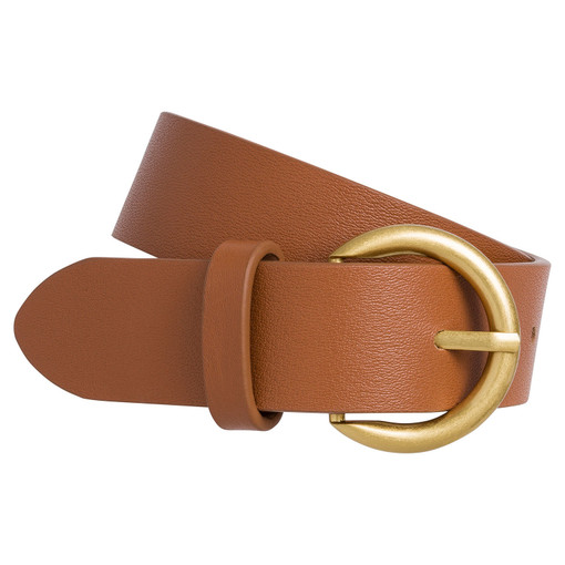 Oroton Elba Wide Jean Belt in Cognac and Saffiano for female