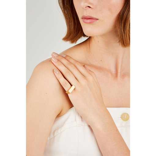 Oroton Florence Pinky Ring in Gold and Brass Base Metal With Precious Metal Plating for female