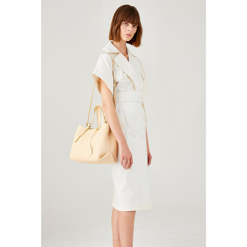 Oroton Margot Medium Day Bag in Nougat and Pebble Leather for female