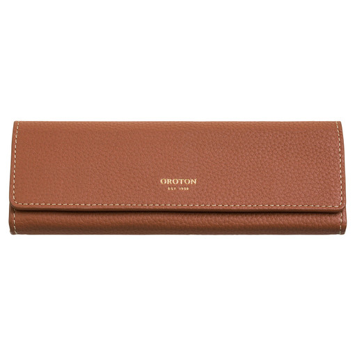 Oroton Margot Sunglasses Case in Whiskey and Pebble Leather for female