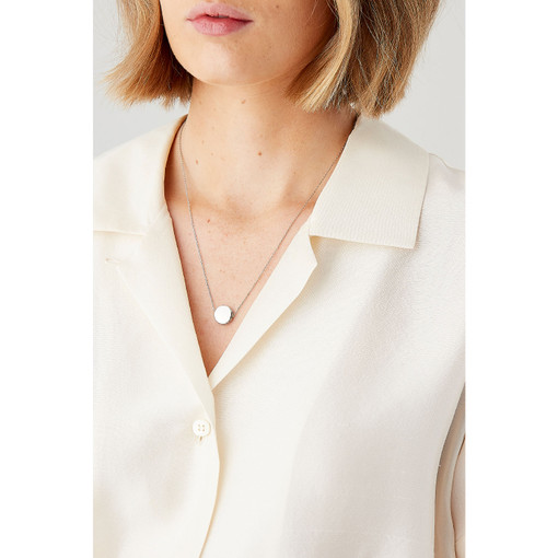 Oroton Avalon 12mm Necklace in Silver and Brass Base Metal for female