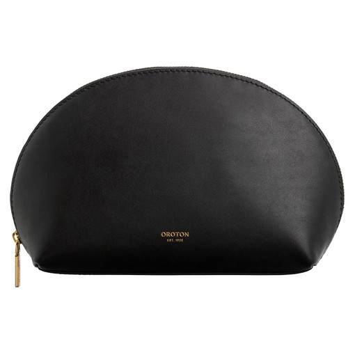 Oroton Venture Medium Case in Black and Smooth Leather for female