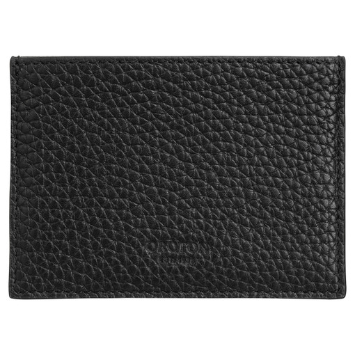Oroton Duke Credit Card Sleeve in Black and Pebble Leather for male