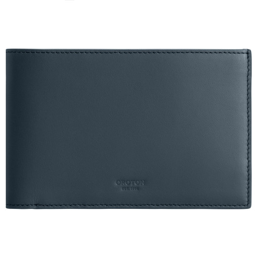 Oroton Buckley Passport Bifold in Bluestone and Smooth Leather for male