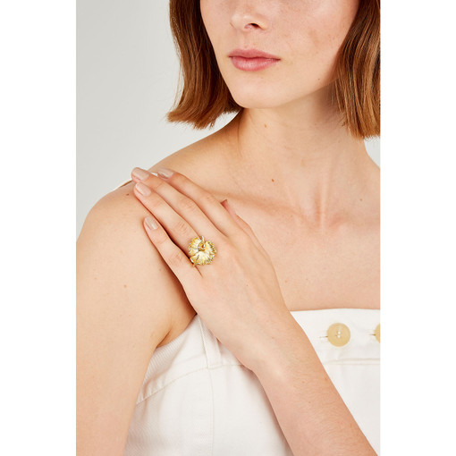 Oroton Hazel Ring in Gold and Brass Base Metal With Precious Metal Plating for female