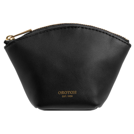 Oroton Maggie Mini Pouch in Black and Smooth Leather for female