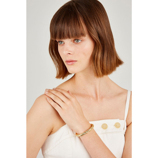 Oroton Isla Cuff in Gold and Brass Base Metal With Precious Metal Plating for female