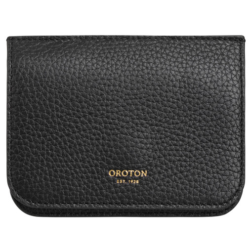 Oroton Eve Small Continental Wallet in Black and Pebble Leather for female