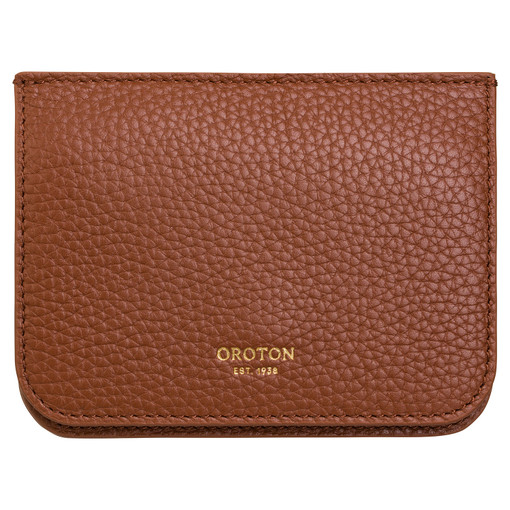 Oroton Eve Small Continental Wallet in Whiskey and Pebble Leather for female