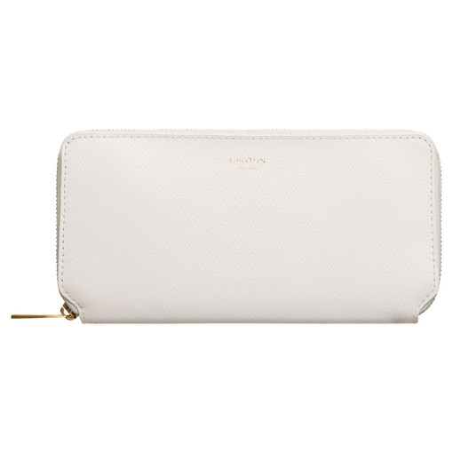 Oroton Muse Medium Zip Wallet in Cream and Saffiano Leather for female