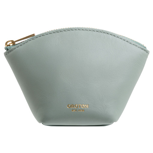 Oroton Maggie Mini Pouch in Sage and Smooth Leather for female