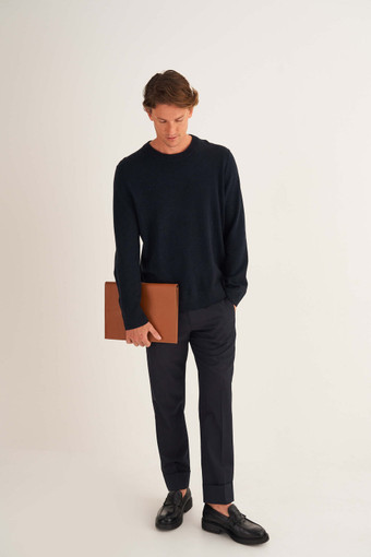 Oroton Buckley Slim Folio in Cognac and Smooth Leather for male