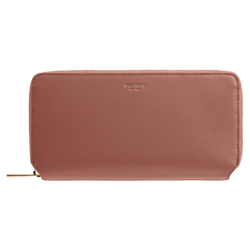 Oroton Coco Medium Zip Wallet in Pecan and Smooth Leather for female