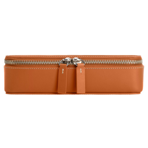 Oroton Buckley Large Accessories Box in Cognac and Smooth Leather for male